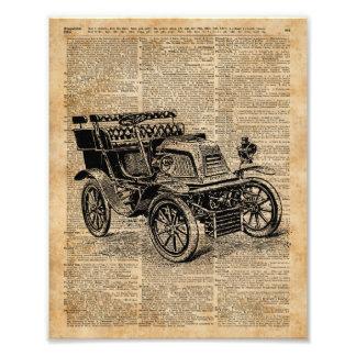 Coche viejo clásico, arte del diccionario del cojinete