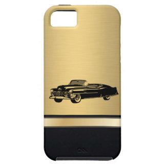 coche viejo con clase del vintage de oro de lujo iPhone 5 carcasas
