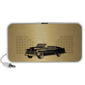 coche viejo con clase del vintage de oro de lujo p laptop altavoces