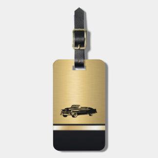 coche viejo con clase del vintage de oro de lujo p etiquetas bolsa