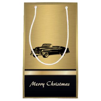 Coche viejo de moda de lujo del navidad de oro bolsa de regalo pequeña