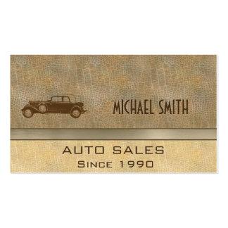 Coche viejo del vintage con clase elegante profesi tarjeta de visita