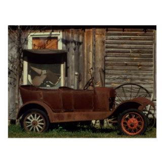 Coche viejo oxidado - vintage tarjetas postales