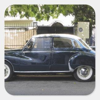 Coche viejo pero muy bien guardado de Audi Pegatina Cuadrada