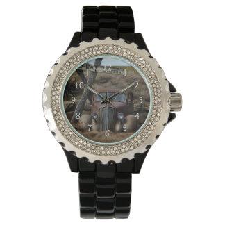 Coche viejo relojes de pulsera