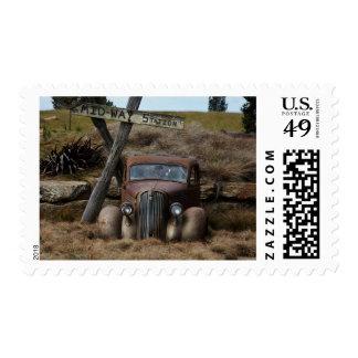 Coche viejo sello