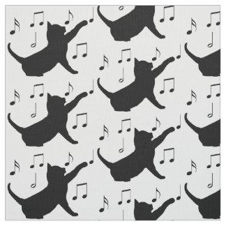 Coche y notas musicales en silueta telas