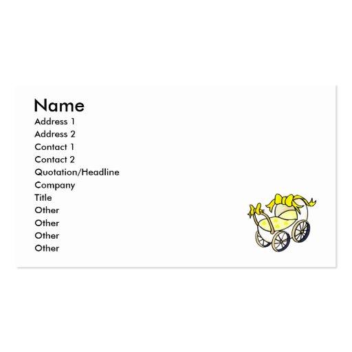Cochecillo amarillo tarjetas de visita