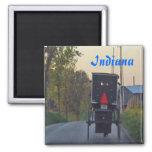 Cochecillo de Amish Imán Cuadrado