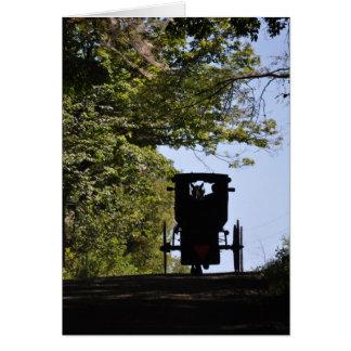 Cochecillo de Amish - silueta del día Tarjeta Pequeña