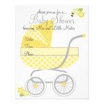 Cochecillo de bebé amarillo de la guinga comunicado personal