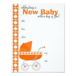 cochecillo de bebé anaranjado comunicados