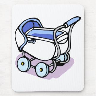 cochecillo de bebé azul tapetes de raton