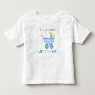 """Cochecillo de bebé azul """"tengo niño de nuevo playera de bebé"""