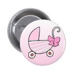 Cochecillo de bebé rosado de la niña pin
