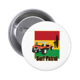 Cochecillo jamaicano de Rasta Surfpatrol Pin Redondo De 2 Pulgadas