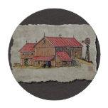 Cochecillo y molino de viento del granero juego de fichas de póquer