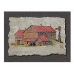 Cochecillo y molino de viento del granero tarjetas postales