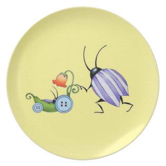 Cochecillos de la placa w del bebé plato para fiesta