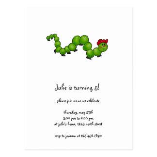 Cochecillos del patio trasero · Caterpillar con Postales