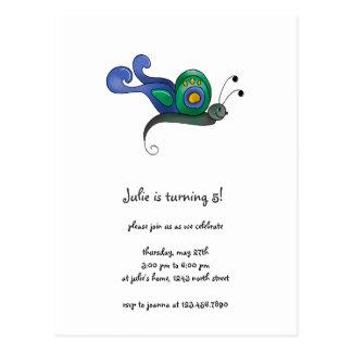 Cochecillos del patio trasero · Mariposa azul y Postal