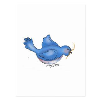 Cochecillos del patio trasero · Pájaro azul Postal