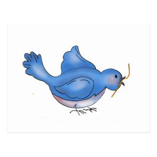 Cochecillos del patio trasero · Pájaro azul Tarjeta Postal