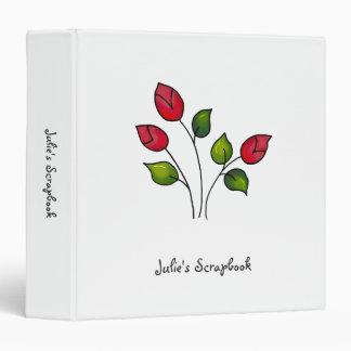 """Cochecillos del patio trasero · Rosas rojos Carpeta 1 1/2"""""""