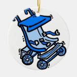 cochecito azul ornamente de reyes