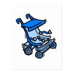 Cochecito azul postales