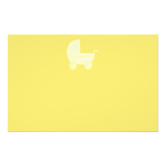 Cochecito de bebé amarillo flyer a todo color