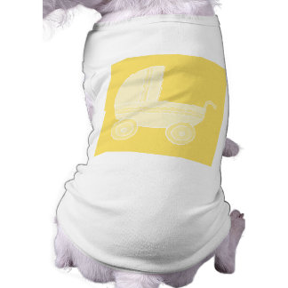Cochecito de bebé amarillo playera sin mangas para perro