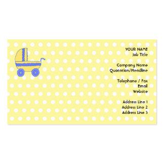 Cochecito de bebé amarillo y azul tarjetas de visita