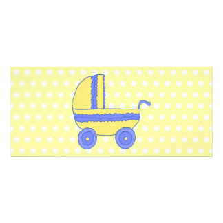 Cochecito de bebé amarillo y azul tarjetas publicitarias personalizadas