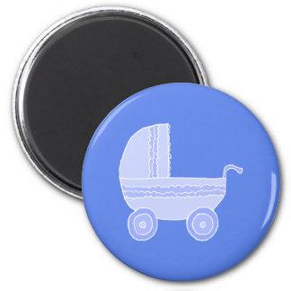 Cochecito de bebé Azul claro en mediados de azul Iman Para Frigorífico