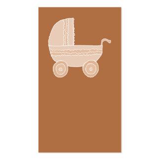 Cochecito de bebé beige pasado de moda en Brown Tarjetas De Visita