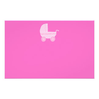 Cochecito de bebé. Rosa rosa claro y brillante Tarjeton