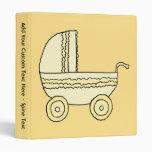 Cochecito de niño amarillo del bebé