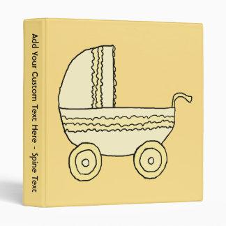 """Cochecito de niño amarillo del bebé carpeta 1"""""""