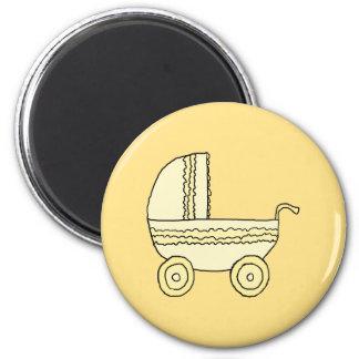 Cochecito de niño amarillo del bebé imanes para frigoríficos