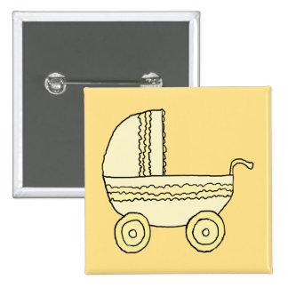 Cochecito de niño amarillo del bebé pin cuadrada 5 cm