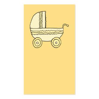 Cochecito de niño amarillo del bebé tarjetas de visita