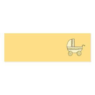 Cochecito de niño amarillo del bebé tarjetas de visita mini