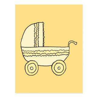 Cochecito de niño amarillo del bebé tarjetas postales