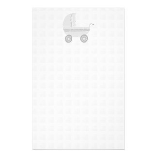Cochecito de niño gris claro y blanco del bebé tarjeta publicitaria