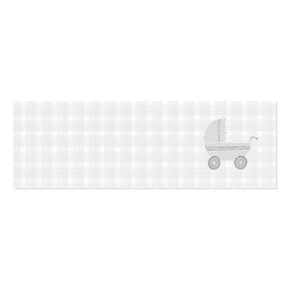 Cochecito de niño gris claro y blanco del bebé tarjetas de visita mini