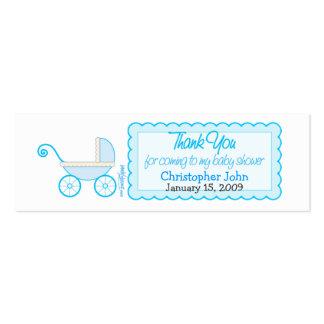 Cochecito del muchacho - etiqueta del favor de las tarjetas de visita mini
