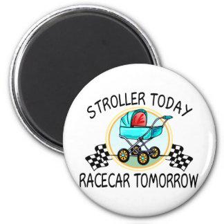 Cochecito hoy Racecar mañana Iman Para Frigorífico