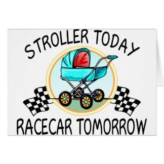 Cochecito hoy, Racecar mañana Tarjeta