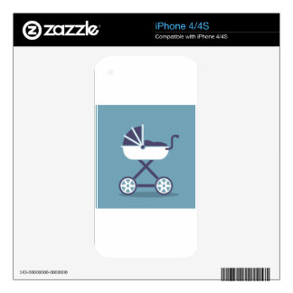 Cochecito simplista skins para iPhone 4